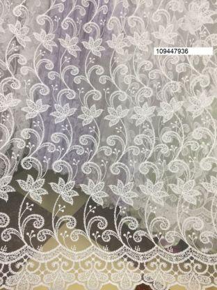 Тюль вышивка на сетке Турция 936