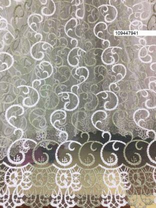 Тюль вышивка на сетке Турция 941