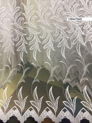 Тюль вышивка на сетке Турция 949