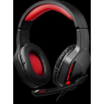Игровая гарнитура Themis красный + черный, кабель 2 м