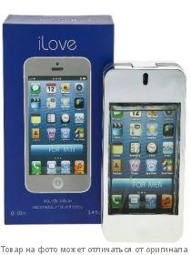 I PHONE LOVE (синяя коробка).Туалетная вода 100мл (муж), шт