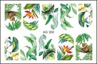 FREEDECOR Аэрография Слайдер дизайн Арт.AG-300 Цветы