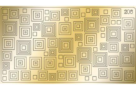 FREEDECOR Металлизированные наклейки MZ206 Геометрия