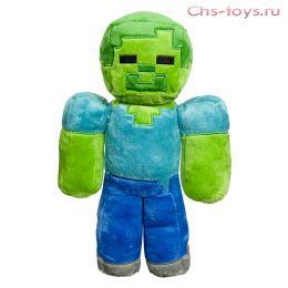 Мягкий плюшевый Зомби из Майнкрафт (Minecraft) 22 см на присоске