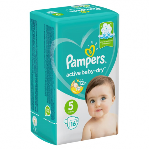 """Pampers """"Active baby-Dry 5""""  16"""