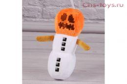 Мягкий плюшевый Снеговик с головой тыквы из Майнкрафт (Minecraft) 20 см на присоске
