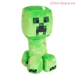 Мягкий плюшевый Крипер из Майнкрафт (Minecraft) 22 см на присоске