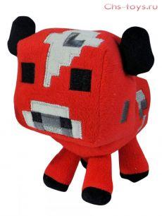 Мягкая плюшевая Грибная красная Корова из Майнкрафт (Minecraft) 20 см на присоске