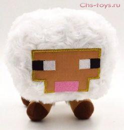 Мягкая плюшевая Овца Чики Бамбони из Майнкрафт (Minecraft) 15 см на присоске