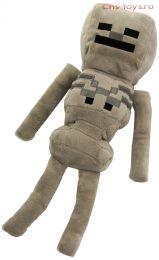 Мягкий плюшевый Скелет из Майнкрафт (Minecraft) 34 см на присоске