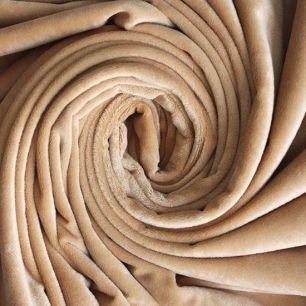 Мелковорсовый мех (ворс 1-2 мм) - цвет Песочный  50*40