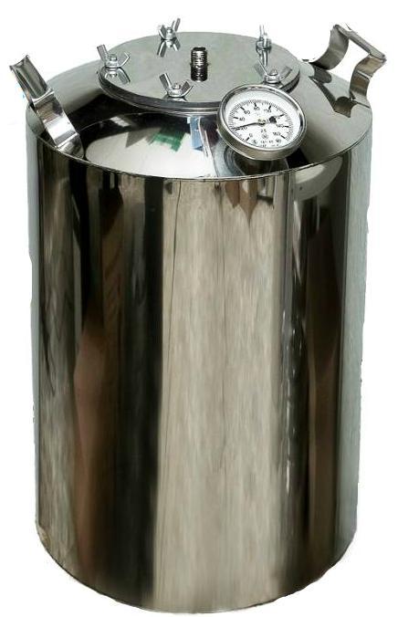 Перегонный куб на 12 литров с термометром + расширенное горло