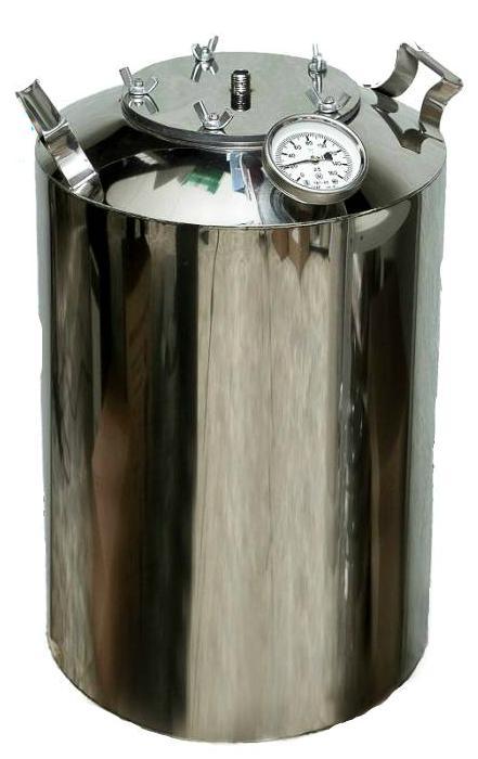 Перегонный куб на 15 литров с термометром + расширенное горло