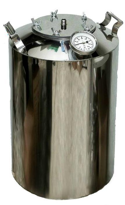 Перегонный куб на 20 литров с термометром + расширенное горло