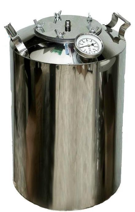 Перегонный куб на 40 литров с термометром + расширенное горло