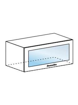 Шкаф горизонтальный со стеклом Модена ШВГС 800