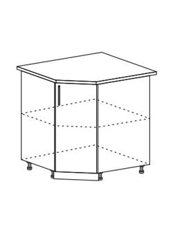 Шкаф нижний угловой Модена ШНУ 850