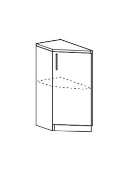 Шкаф нижний торцевой Модена ШНТ 300