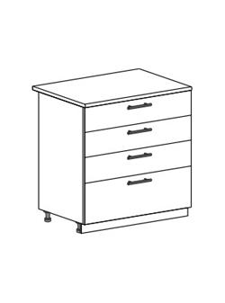 Шкаф нижний с 4 ящиками Модена ШН4Я 800