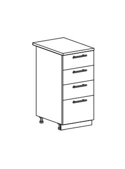 Шкаф нижний с 4 ящиками Модена ШН4Я 400
