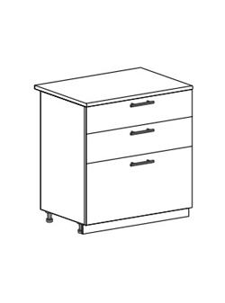 Шкаф нижний с 3 ящиками Модена ШН3Я 800