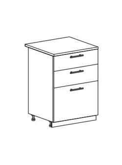 Шкаф нижний с 3 ящиками Модена ШН3Я 600