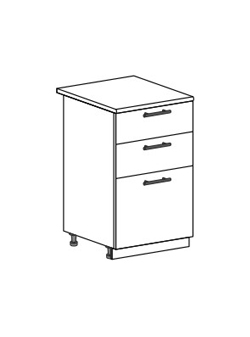 Шкаф нижний с 3 ящиками Модена ШН3Я 500