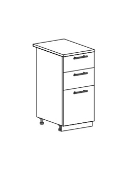 Шкаф нижний с 3 ящиками Модена ШН3Я 400