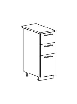 Шкаф нижний с 3 ящиками Модена ШН3Я 300