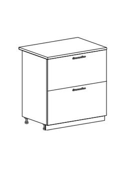 Шкаф нижний с 2 ящиками Модена ШН2Я 800