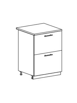 Шкаф нижний с 2 ящиками Модена ШН2Я 600