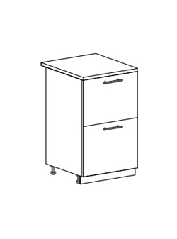 Шкаф нижний с 2 ящиками Модена ШН2Я 500