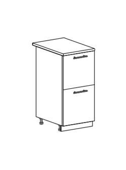 Шкаф нижний с 2 ящиками Модена ШН2Я 400
