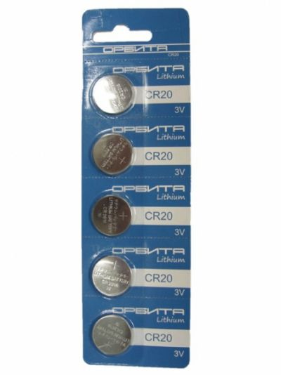 Батарейка литиевый элемент питания (диск) Орбита 2016 BR-5 (5/100)