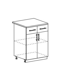 Шкаф нижний с 2 ящиками Модена ШН1Я 600