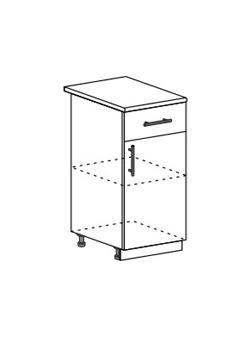 Шкаф нижний с 1 ящиком Модена ШН1Я 400