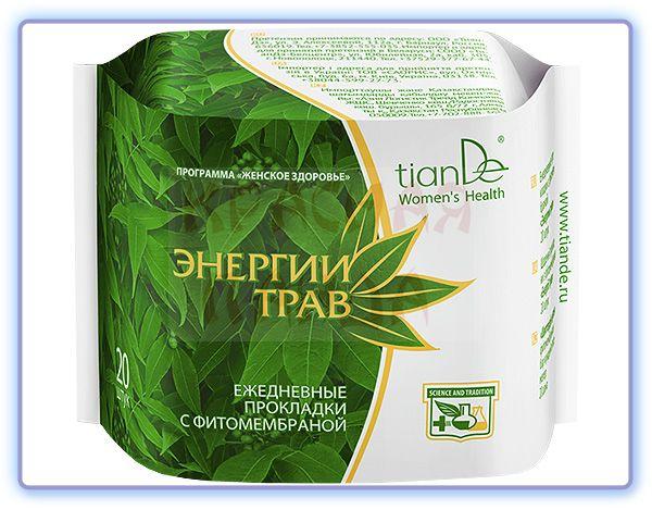 TianDe Ежедневные прокладки с фитомембраной Энергия трав