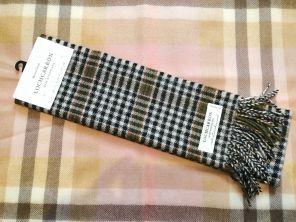шарф теплый шотландский 100% шерсть ягнёнка , тартан в честь знаменитого поэта Шотландии Роберта Бёрнса BRUSHWOOL LONG BURNS CHECK SCARF