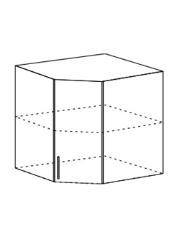 Шкаф верхний угловой Модена ШВУ 550