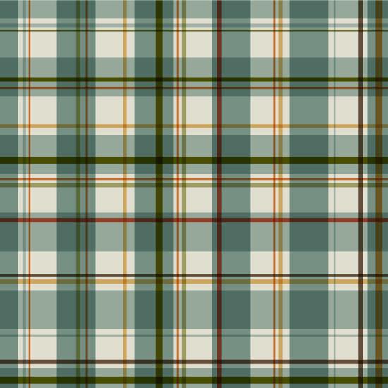 Хлопок Перкаль Зеленая шотландка  50х37