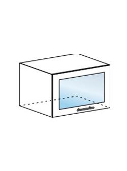 Шкаф горизонтальный со стеклом Модена ШВГС 600