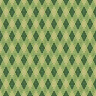 Хлопок Перкаль Зеленые ромбики 50х37