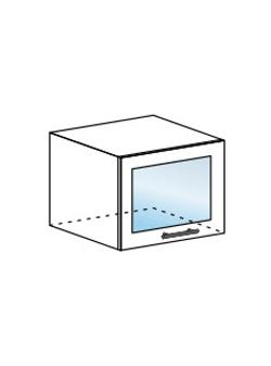 Шкаф горизонтальный со стеклом Модена ШВГС 500