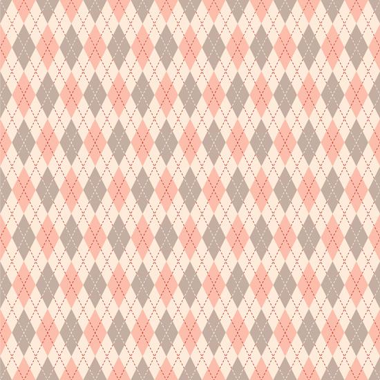 Хлопок Перкаль Розовые ромбики 50х37