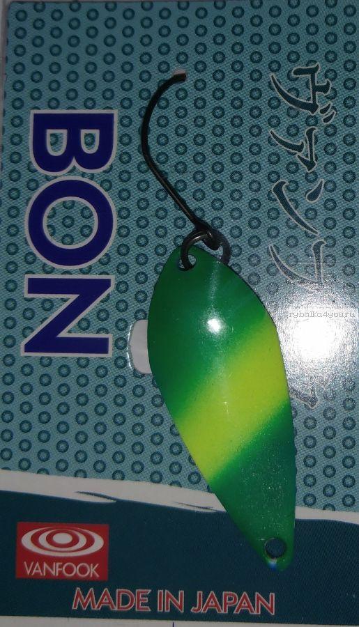 Блесна колеблющаяся Troutland Bon 2,6 гр / цвет: GLO13
