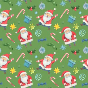 Хлопок Перкаль Санта Клаус 50х37
