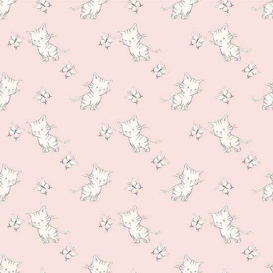 Хлопок Перкаль Котята на розовом 50х37