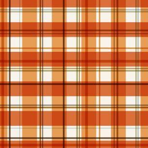 Хлопок Перкаль Оранжевая шотландка  50х37