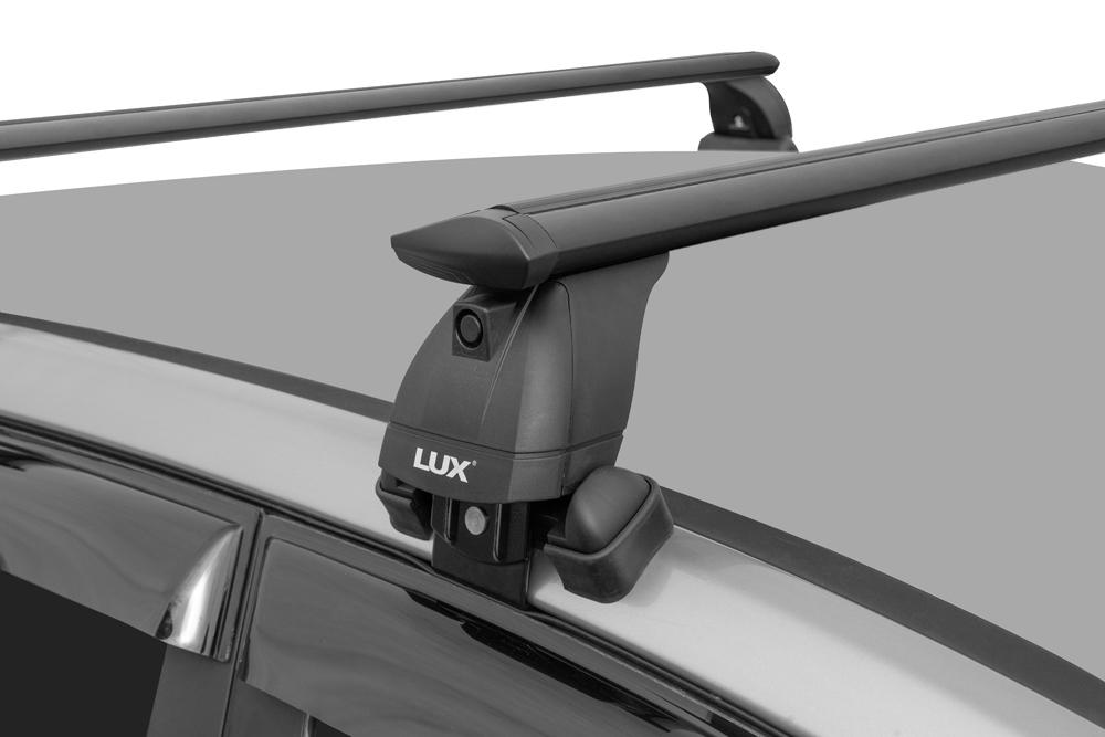 Багажник на крышу Renault Arkana, Lux, черные крыловидные дуги