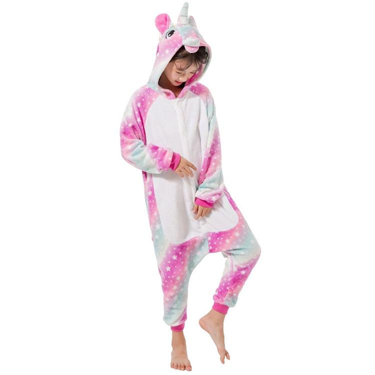 Детская Пижама Кигуруми Единорог Звездная Радуга